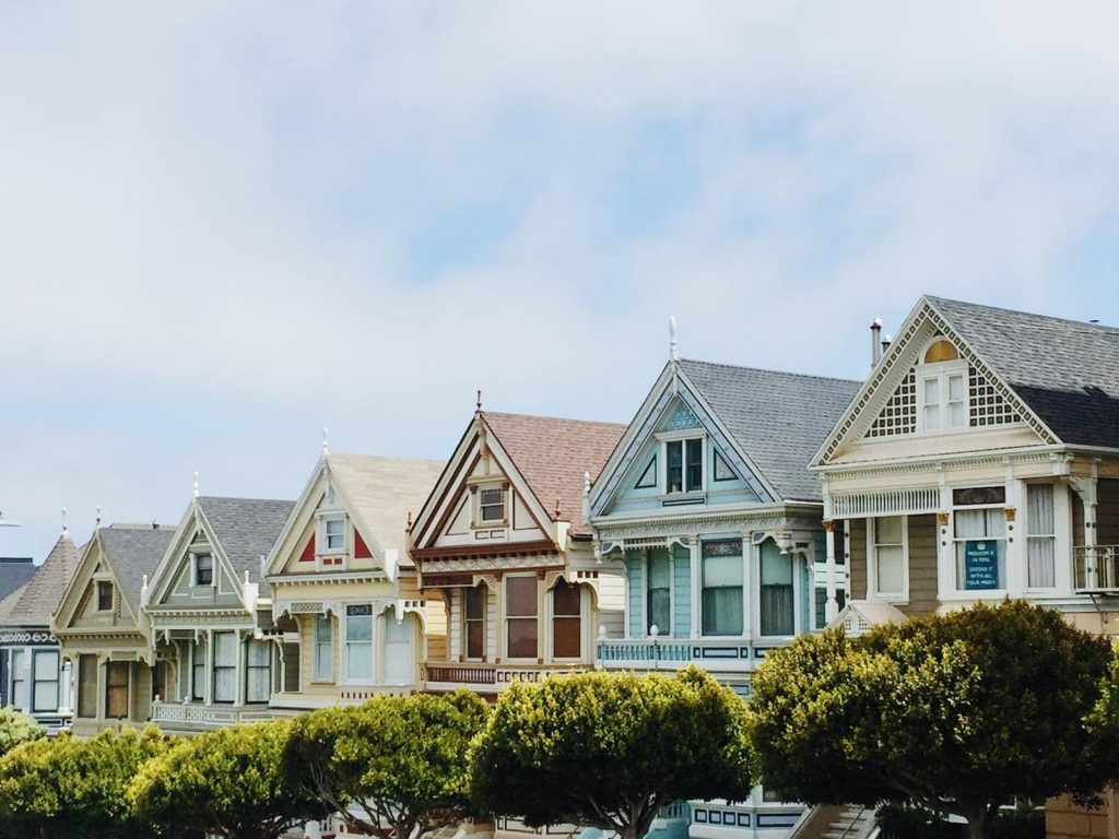 different color houses