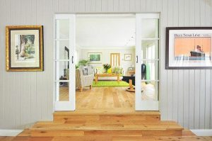living room french door