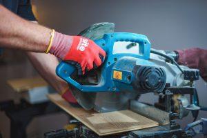 Power Saw cutting wood