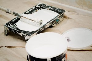 White paint with roller
