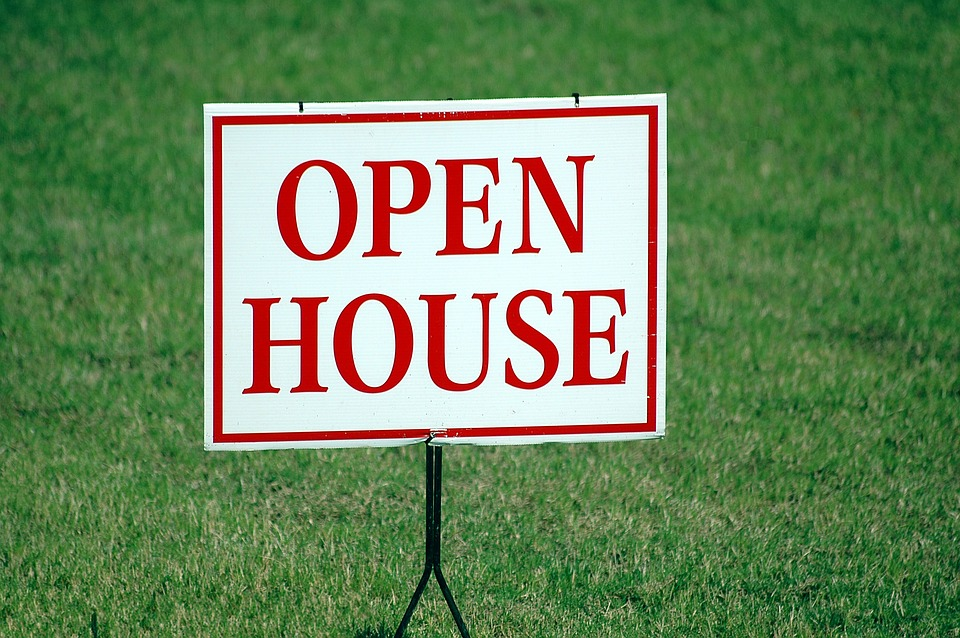 """""""Open House"""" sign"""